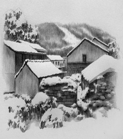 雪乡怎么画?简单的素描画法是什么?