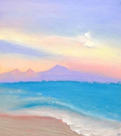 马卡龙色天空怎么画?绘画教程是什么?