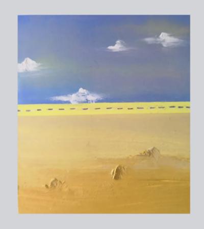 沙漠怎么画?超级简单的油画棒教程分享
