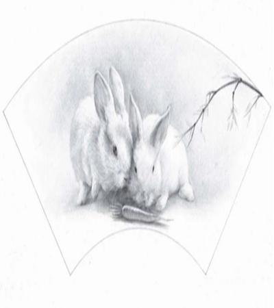 扇面兔子怎么画?小兔子的素描教程是什么?