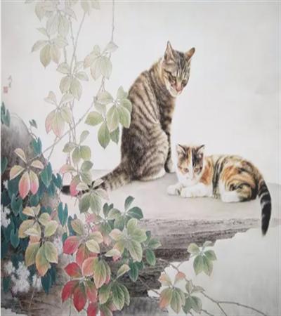 两只小猫怎么画?动态的画面如何掌握画面结构?
