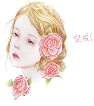 蔷薇少女怎么画?有哪些绘画步骤?