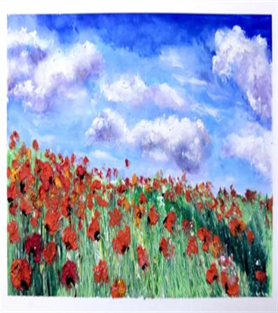 遍山红怎么画?如何画多变的云朵?