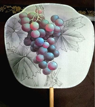 扇面葡萄怎么画?怎么才能画的更加逼真?