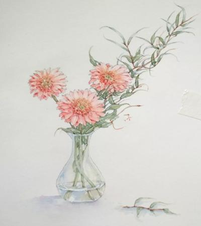 向阳花怎么画?瓶插向阳花的绘画步骤有哪些?