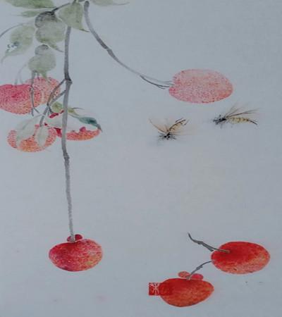 掉落的荔枝怎么画?详细的绘画教程是什么?
