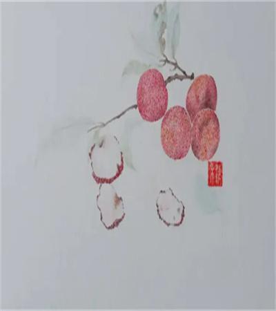 荔枝怎么画?绘画过程是什么?