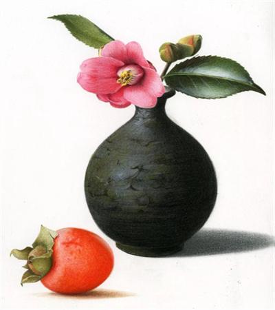 山茶柿子怎么画?详细的绘画步骤有几步?