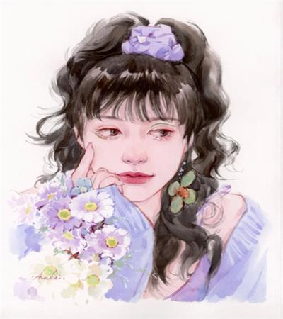 甜美少女怎么画?简单的水彩画法是什么?