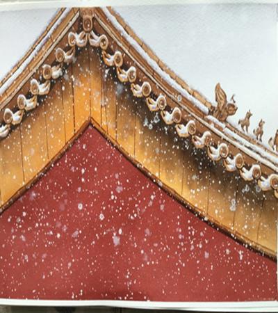 飞舞的雪花怎么画?绘画过程是什么?