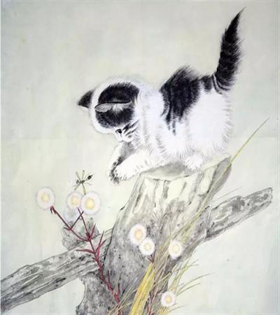 黑白猫怎么画?简单的工笔画法是什么?