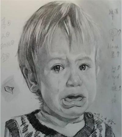 爱哭的小男孩怎么画?有哪些绘画步骤?