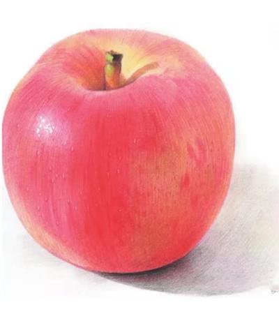 红苹果怎么画?如何画好排线?