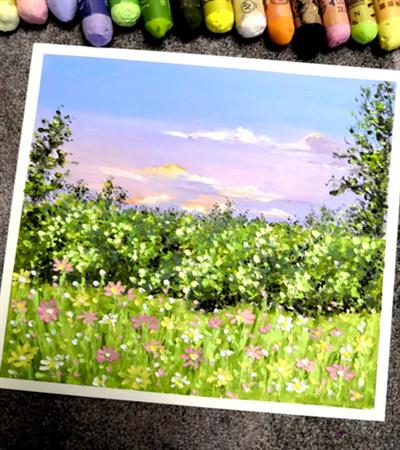 绿草鲜花怎么画?有哪些绘画步骤?