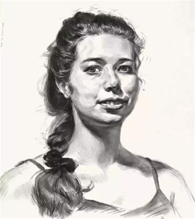 外国女青年怎么画?详细的素描画法是什么?