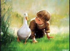 法国艺术家卓兰(Donald Zolan)儿童水彩画系列作品欣赏三