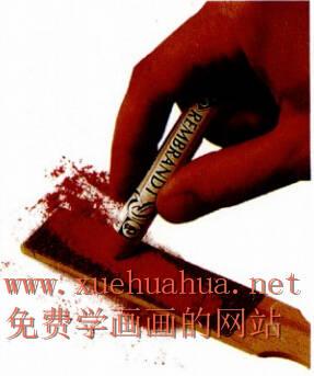 色粉画的握笔方法及色粉笔的使用方法(8)