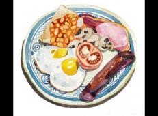 Holly Exley的美食水彩画作品欣赏