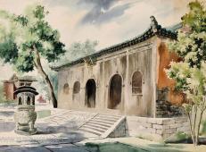 中国水彩画之父李剑晨水彩画风景4幅欣赏