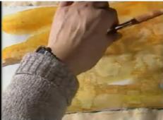 学画水彩画教程_水彩画特殊技法的表现