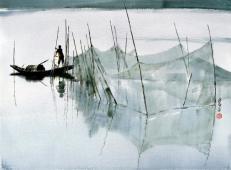 黄铁山水彩画作品高清图片欣赏