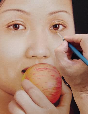 人物丙烯画写实技法教学详解