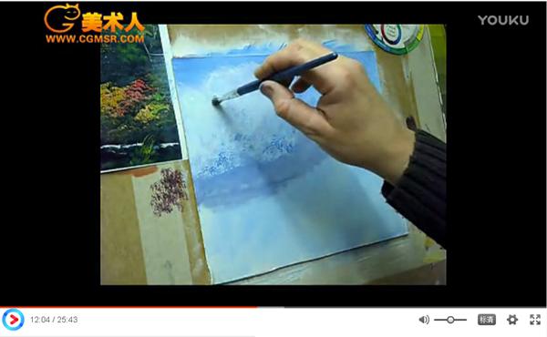 初学者丙烯画视频教程:丛林深处