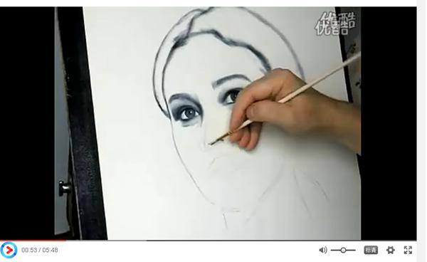 人物画色粉教学视频