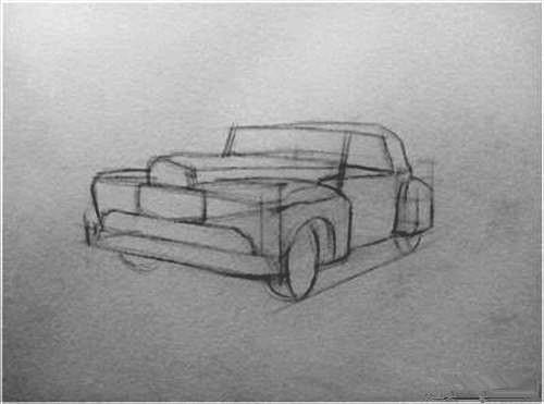 怎么画车?车的钢笔画教程