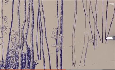 树怎么画?钢笔画森林视频教程