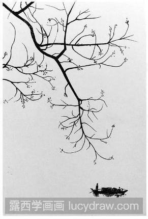 简单的风景钢笔画