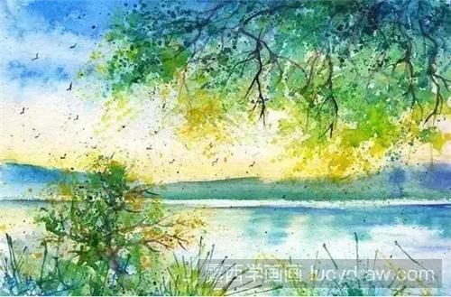 水彩画作品