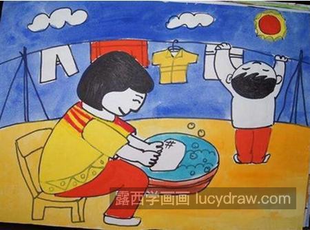 儿童画作品