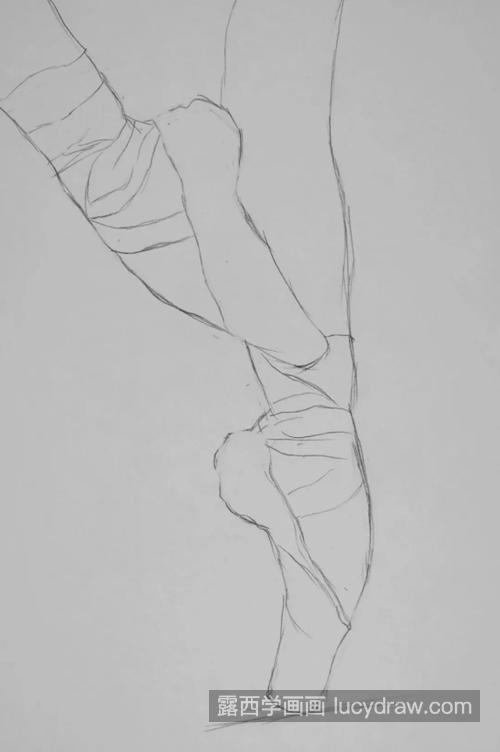 芭蕾舞脚怎么画