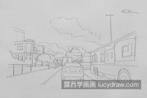城市街道怎么画
