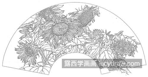 向日葵怎么画