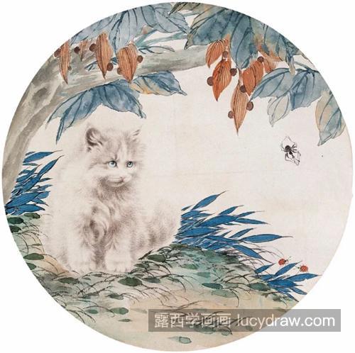 猫咪国画作品