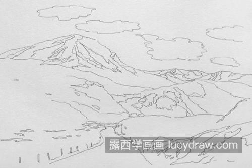 连绵雪山怎么画