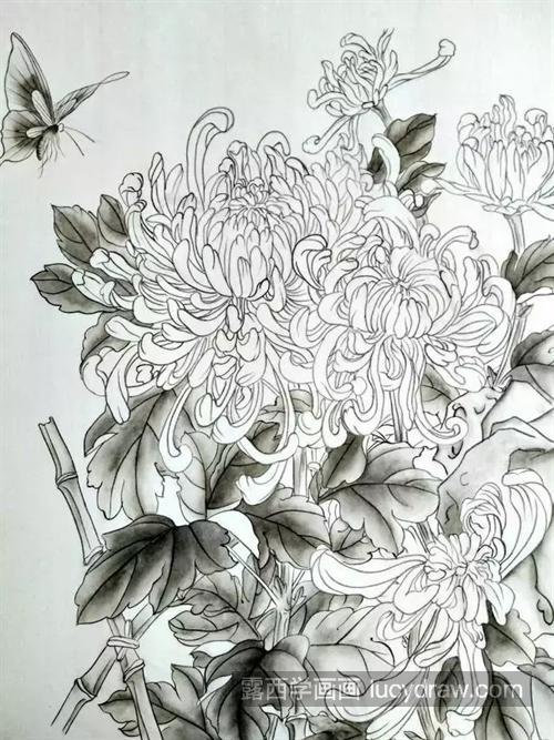 菊花怎么画