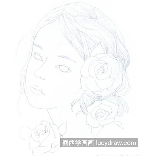 蔷薇少女怎么画
