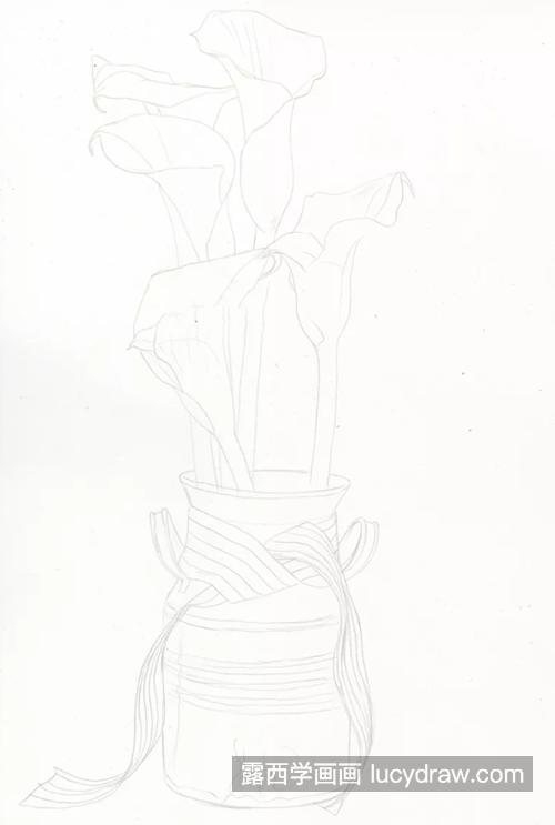 马蹄莲怎么画