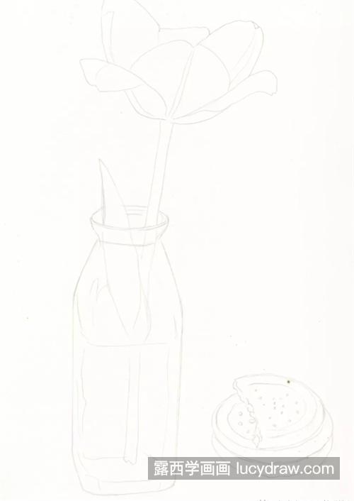 大红郁金香怎么画